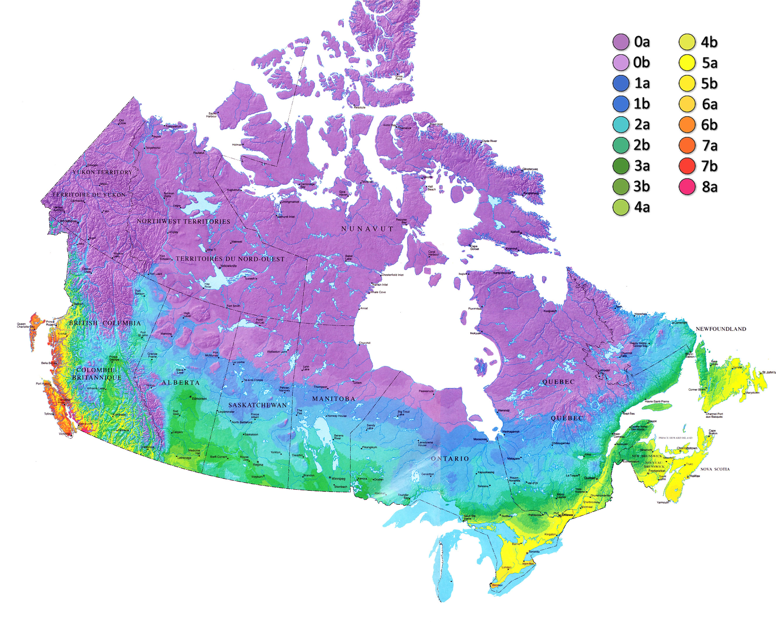 Zone Map For Canada
